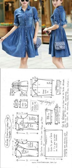 Denim dress pattern