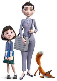 Le Petit Prince - Figurines - le Renard, la Petit Fille, la Mere