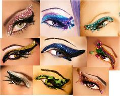 self-adhesives... way too cool if u can find some that don't make u look like a drag-queen, LOL!! or fun 4 dress-up too!!