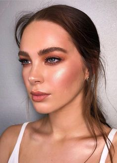 Pinterest: DEBORAHPRAHA ♥️ orange bronzed makeup look