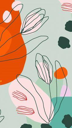bunte-zeichnung-schöne-blumen-tumblr-aesthetic-backgrounds-ästhetische-bilder-handy L Wallpaper, Pattern Wallpaper, Wallpaper Backgrounds, Iphone Backgrounds, Pattern Art, Pattern Design, Iphone Hintegründe, Coloring For Kids, Textures Patterns