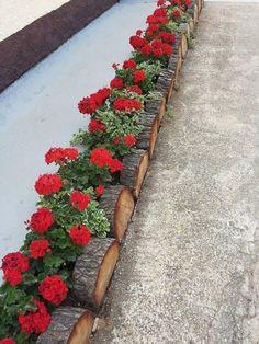 ✔️ 99 Charming Backyard Rock Decorating Ideas 27 - New ideas Garden Deco, Garden Yard Ideas, Garden Projects, Garden Art, Small Front Yard Landscaping, Backyard Landscaping, Rock Garden Design, Yard Design, Garden Edging
