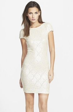 Free shipping and returns on Dress the Population 'Tabitha' Sequin Minidress at Nordstrom.com. A curve-tracing cut, a lavish veneer of patterned sequins and a deeply scooped back add up to an undeniably seductive short-sleeve minidress.