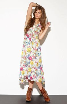 Women's Fashion Clothing:  Lucca Couture Dress - Lucca Couture Ivory Floral Dress by PacSun