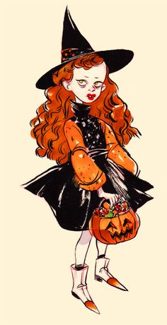 "peterahern:  I believe this is a young Thora Birch from ""Hocus Pocus"". by Leslie Hung"