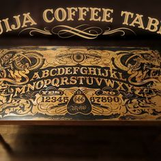 Ouija Coffee Table from instructables