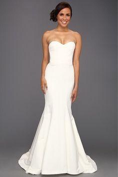 A simple mermaid silhouette. | 27 Wedding Dresses You Didn't Know You Could Get At Zappos