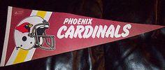 "Rare Vintage 1970s NFL Football Pennant Phoenix Cardinals 28"" Long please retweet"