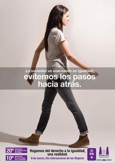 Imagen de la campaña con motivo de la celebración del día 8 de marzo, Día Internacional de las Mujeres, para Emakunde (Instituto Vasco de la Mujer, Gobierno Vasco)