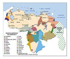 Mapa de Grupos Indigenas de Venezuela