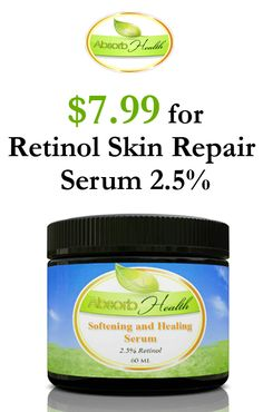 Absorb  Health is offering $7.99 Retional Skin Repair Serum 2.5%. This deal is currently activated on the site. For more Absorb Health Coupon Codes http://www.couponcutcode.com/stores/absorb-health/