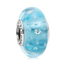 Pandora Blue Effervescence Murano Glass Charm