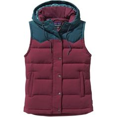 Living above 7,000 feet can bring cool temps and frigid winds with a drop of a hat, so be ready to keep your core cozy with the Patagonia Women's Bivy Hooded Down Vest. Made of a rugged nylon canvas, the Bivy won't easily tear when you're stocking up on firewood for the winter, and it is treated with a DWR finish, so a little wet weather won't be too much of a problem either. And when you need to really hunker down, an insulated hood and two hand pockets will let your head and hands get in…