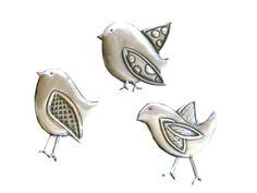 Pewter Embellishment Set of Birds £7.00