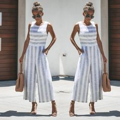 Ashley - Casual Striped Jumpsuit
