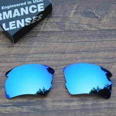 TAN Polarized Sunglass Lenses Replacement for-Oakley Flak 2.0 XL-Blue Mirrored