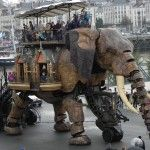 Giant Robot Elephant With Amazing Movement And Motion Abilities In Nantes, France