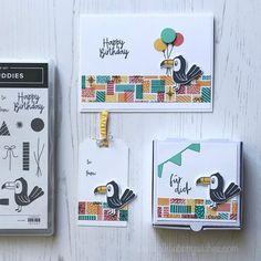 """Bettina Reisinger on Instagram: """"Bevor es hier noch mir 2 Osterprojekten weitergeht, hier mein Beitrag zu unserer Kreativsterne-Teamchallenge """"Mach was draus"""", zu der meine…"""" Birthday Cards, Happy Birthday, Instagram, Ink Stamps, Colorful Birthday, Keep Walking, Stars, Creative, Bday Cards"""