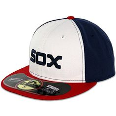 New Era 59FIFTY Chicago White Sox Team Alternate Baseball Hat White/Navy/Red Size Fitted 7 3/4 New Era MLB Cap. Available while supplies last! http://www.amazon.com/dp/B00MFO6JUY/ref=cm_sw_r_pi_dp_HRb.wb1V5N57Z