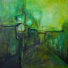 """Saatchi Art is pleased to offer the painting, """"Clock on town square,"""" by Miroslav Vajda. Original Painting: Acrylic on Canvas. Clock Painting, Saatchi Art, Original Paintings, Square Art, Canvas, Artist, Tela, Artists, Canvases"""