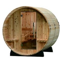 Almost Heaven Saunas LLC Audra Cedar 4 Person Traditional Steam Sauna Window: Vista Window Cedar Planks, Wood Planks, Room Interior, Interior And Exterior, Indoor Sauna, Barrel Sauna, Traditional Saunas, Portable Sauna, Steam Sauna