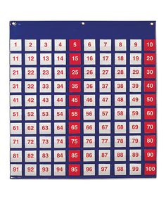 Look what I found on #zulily! Hundred Pocket Chart #zulilyfinds