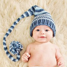 Baby Newborn Striped Elf Hat  Made to Order by vbirschbach on Etsy, $20.00