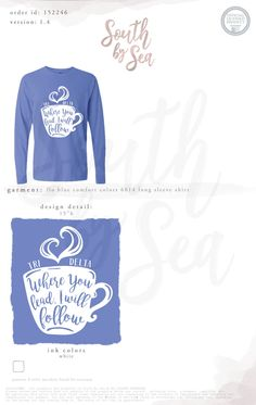 Tri Delta | Delta Delta Delta | Where you lead I will follow | Coffee cup Design | Sisterhood | South by Sea | Greek Tee Shirts | Greek Tank Tops | Custom Apparel Design | Custom Greek Apparel | Sorority Tee Shirts | Sorority Tanks | Sorority Shirt Designs