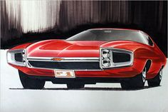 Late 1960s Chevrolet Rendering