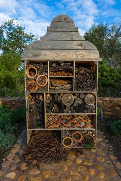 insect hotel Organic principles are adhered to as much as possible, and the bug hotel provides stylish accommodation for beneficial insects (a pile of brush in your garden will do the same thing).