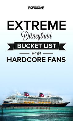 For Hard-Core Fans Only: The Extreme Disney Bucket List