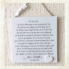 Mother of The Bride Wedding Shabby Chic Sign Wooden Plaque Gift Memories W109