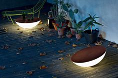 Solar Outdoor Floor lamp - Ø 79 x H 31 cm Brown top - [EU plug] Outdoor by Foscarini