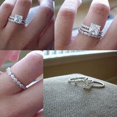 promise ring, engagement ring, and wedding ring. Love this idea!