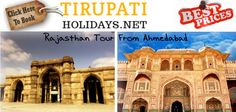 Rajasthan Tour From Ahmedabad - For booking this Tour #Package or for any other details contact us at http://www.tirupatiholidays.net/rajasthan-tour-from-ahmedabad.html