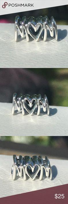 Best Mom Heart Mother Family Bead Mum Spacer for European Charm Bracelet