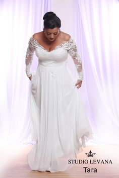 Plus size wedding gown White collection (16)