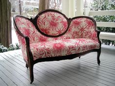 If I reupholstered the settee!