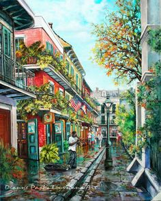 Jazz in Pirates Alley, New Orleans French Quarter Art, Stretched Canvas or Print, New Orleans Art, by New Orleans Artist Dianne Parks