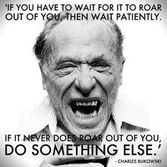Charles Bukowski on writing