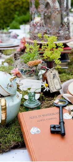 Wedding shower ideas from Brit + Co, including an Alice in Wonderland Tea Party