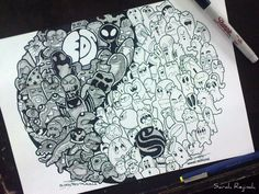 'YIN YANG' doodle collaboration by SarahRejinah on DeviantArt