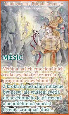 intuitivni-tarot-mesic Tarot, Fictional Characters, Fantasy Characters, Tarot Cards