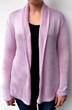 Rosafarbene Jacke mit Schalkragen