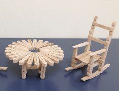 Diy Decoracion Baby - Diy Knutselen Vaderdag - Diy Wood Small - - Diy Bedroom Minimalist - Diy Fashion No Sew Craft Stick Projects, Craft Stick Crafts, Diy Crafts To Sell, Diy Crafts For Kids, Plate Crafts, Art Projects, Diy Barbie Furniture, Dollhouse Furniture, Miniature Furniture