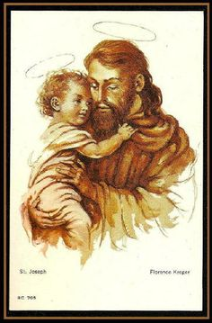 Happy father, s day to all fathers .A model for fathers… St Joseph, Blessed Mother, Religious Art, Happy Fathers Day, Catholic, Saints, Catechism, Prayer Cards, Mother Mary