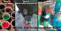 Ice sculptures for kids--get outside this winter and have fun. One of 100s of activities inside 1,001 Boredom Busting Play Ideas by Jean Oram. #99cents until Dec 21, 2015. Also available in paperback as a great #giftidea for #kids