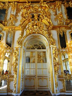 Gold meets Rococo at Catherine's Palace, St. Petersburg, Russia
