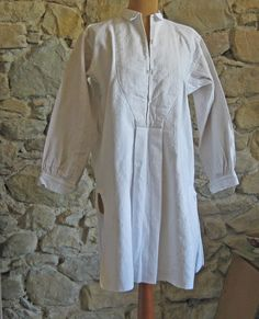 French linen hemp nightshirt antique French country by Histoires