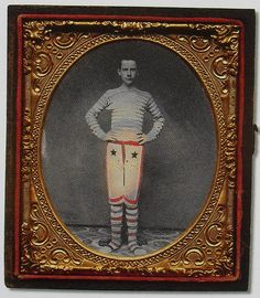 Occupation. 1860s circus performer, tintype.